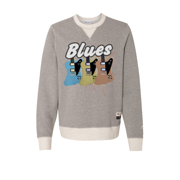 Blues Amigos - Champion Sueded Fleece Crew (Oxford Grey)