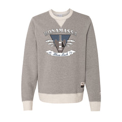 Blues Rock Guitar Logo - Champion Sueded Fleece Crew (Oxford Grey)