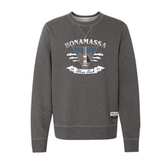 Blues Rock Guitar Logo - Champion Sueded Fleece Crew (Charcoal)
