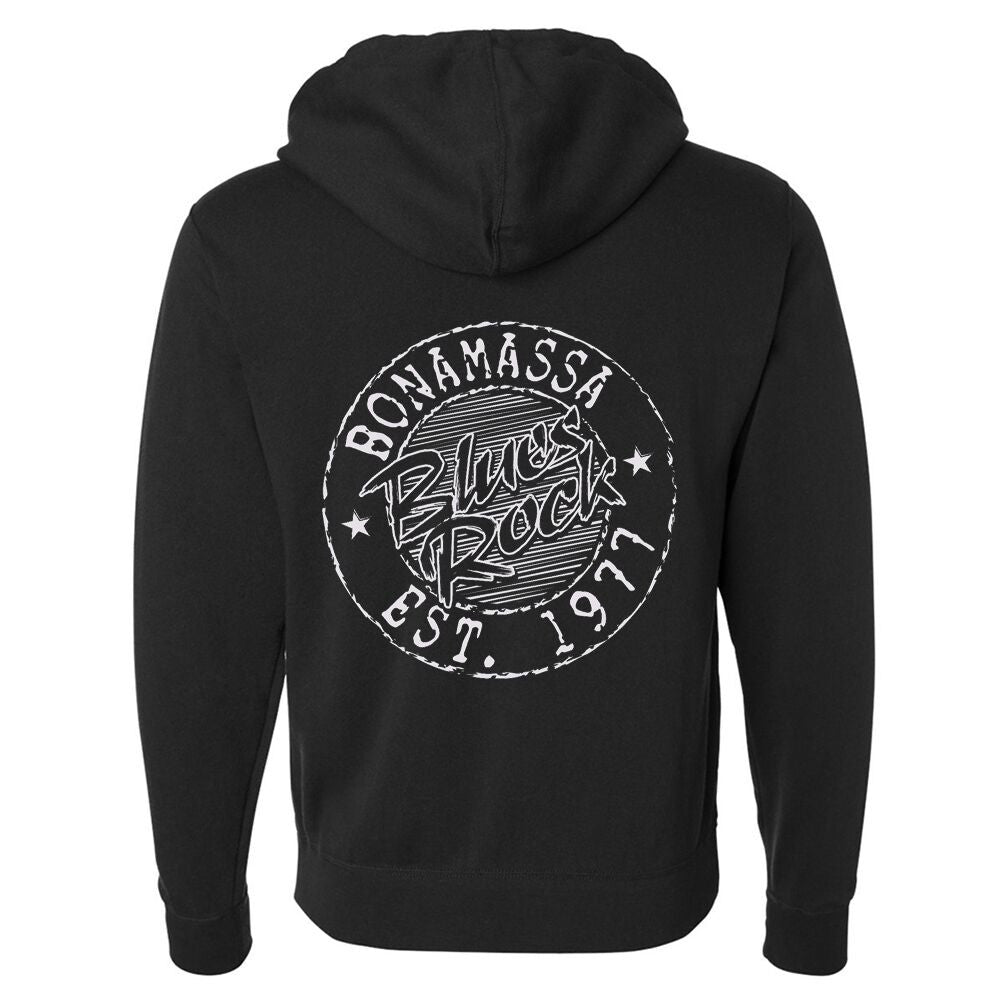 Classic Blues Rock Zip-Up Hoodie (Unisex)