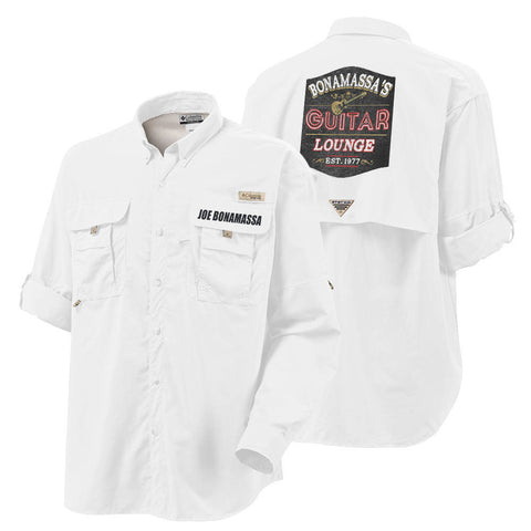 Columbia Bahama II White Long Sleeve - Bonamassa's Guitar Lounge (Men)