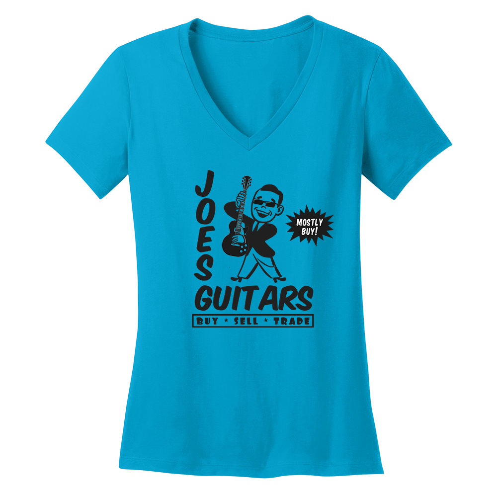 Joe's Guitars V-Neck (Women) - Turquoise