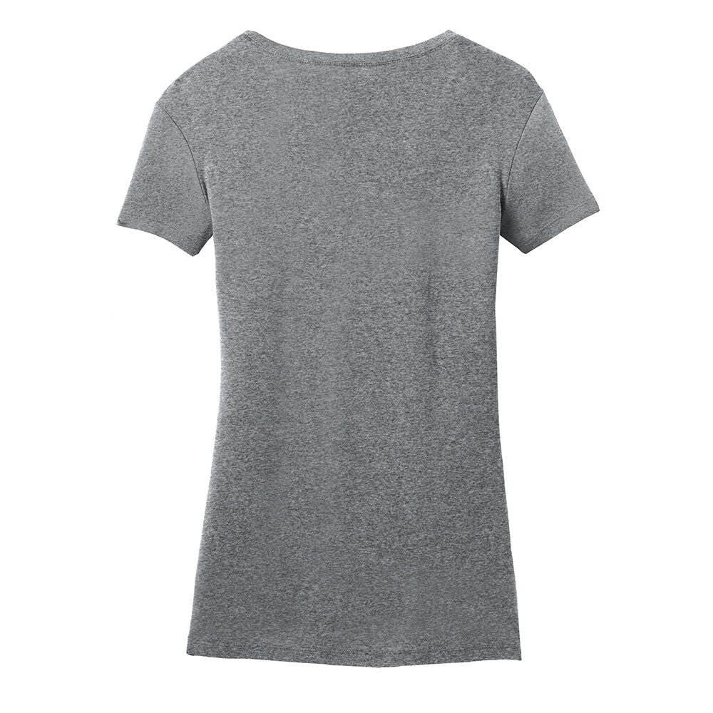 Vintage Headstock V-Neck (Women) - Heather Grey