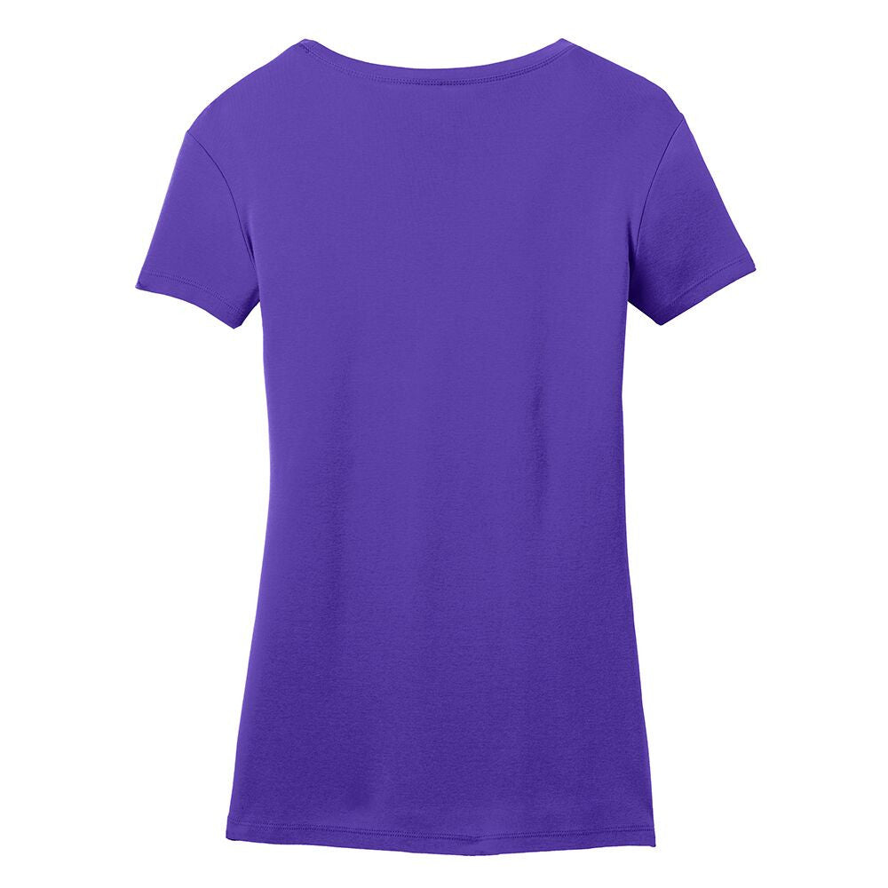 Vintage Headstock V-Neck (Women) - Purple