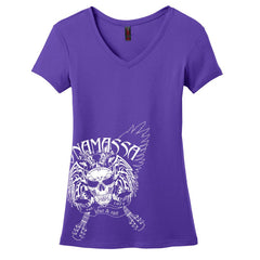 Blue and Evil V-Neck (Women) - Purple