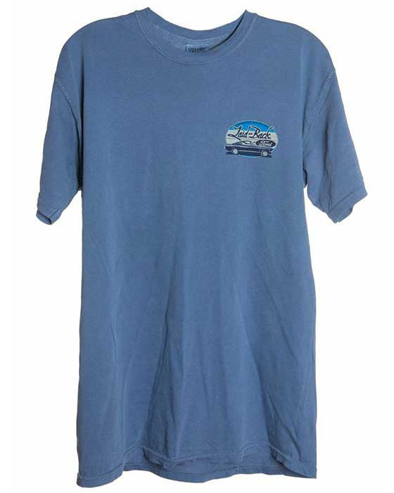 classic car t shirt for men in blue