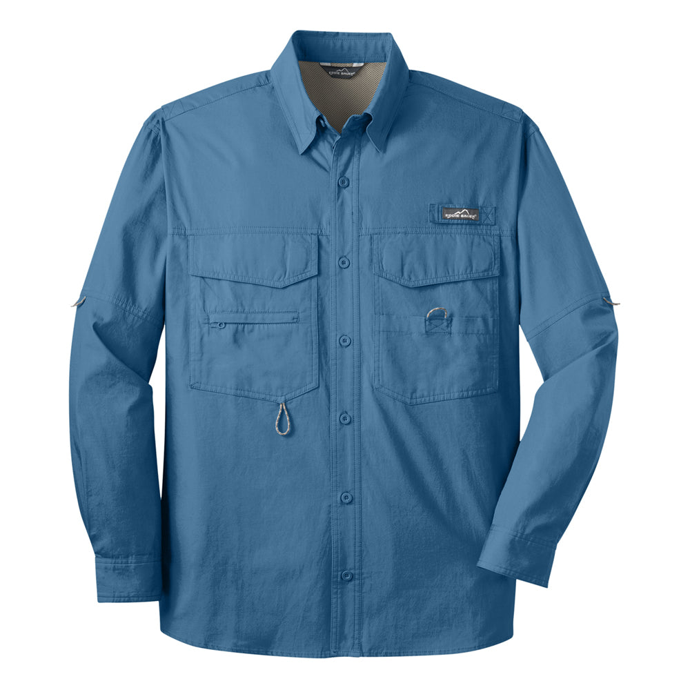 Sailin' Blues Eddie Bauer Long Sleeve Fishing Shirt (Men) - Blue