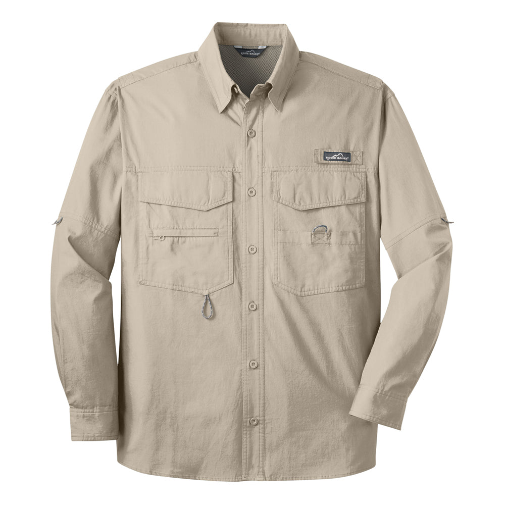 Reel Blues Eddie Bauer Long Sleeve Fishing Shirt (Men) - Driftwood