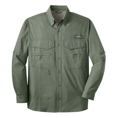 Blues to the Bone Eddie Bauer Long Sleeve Fishing Shirt (Men) - Green