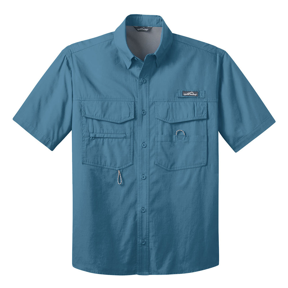 Blues to the Bone Eddie Bauer Short Sleeve Fishing Shirt (Men) - Blue