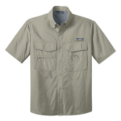 Sailin' Blues Eddie Bauer Short Sleeve Fishing Shirt (Men) - Driftwood