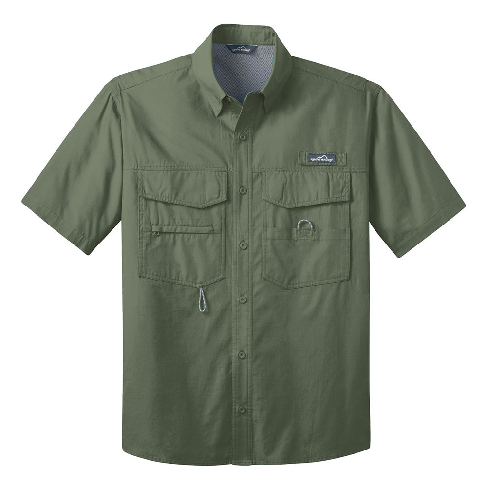Reel Blues Eddie Bauer Short Sleeve Fishing Shirt (Men) - Green