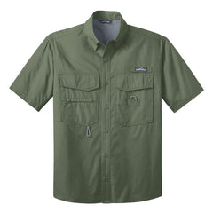 Blues to the Bone Eddie Bauer Short Sleeve Fishing Shirt (Men) - Green