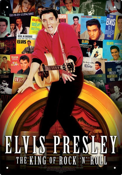 Elvis Presley - The King of Rock n Roll Tin Sign