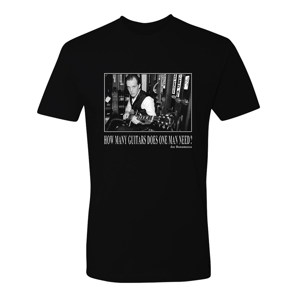 How Many Guitars Does One Man Need T-Shirt (Unisex)