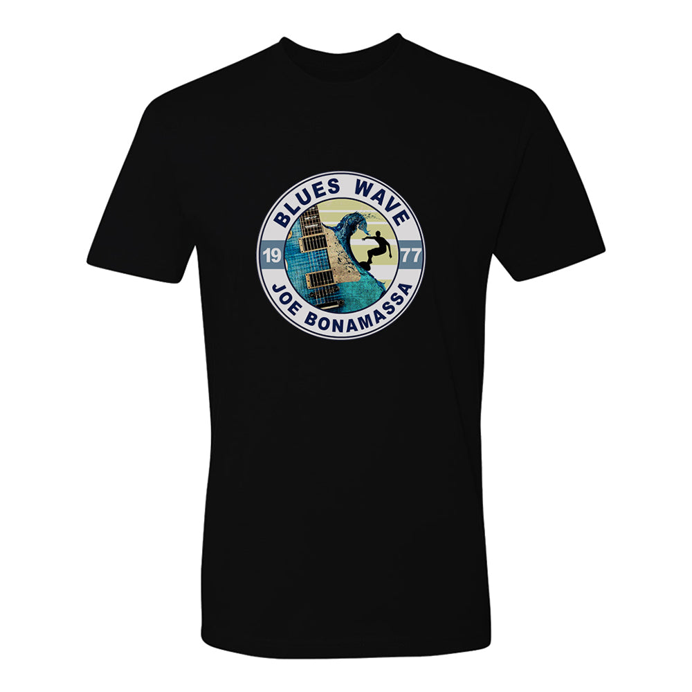 Blues Wave T-Shirt (Unisex) - Black