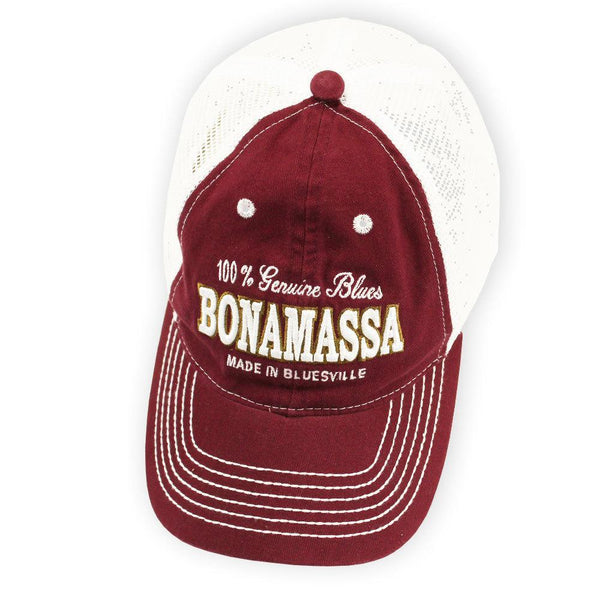 Genuine Blues Hat (Burgundy) - Bonamassa Custom Shop