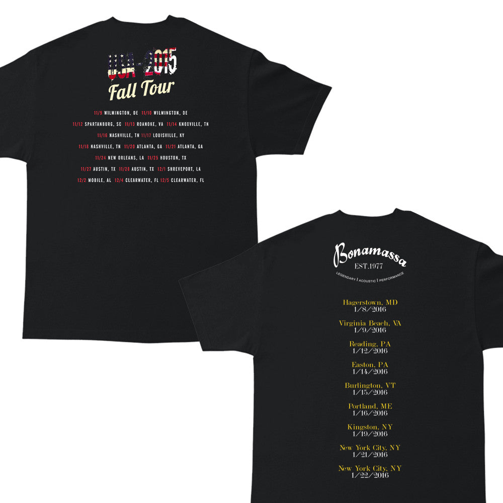 Fall 2015 & Acoustic 2016 Tour Tee Package