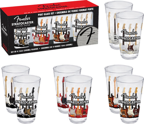 Fender - Pint Glasses (4 Piece Set)