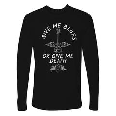 Give Me Blues Or Give Me Death Long Sleeve (Men) - Black