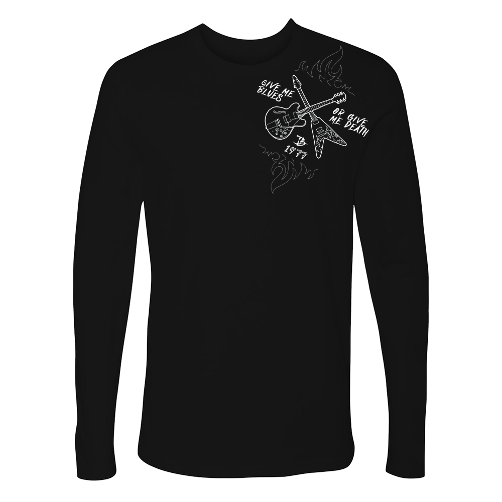 Give Me Blues Or Give Me Death Crossroads Long Sleeve (Men) - Black