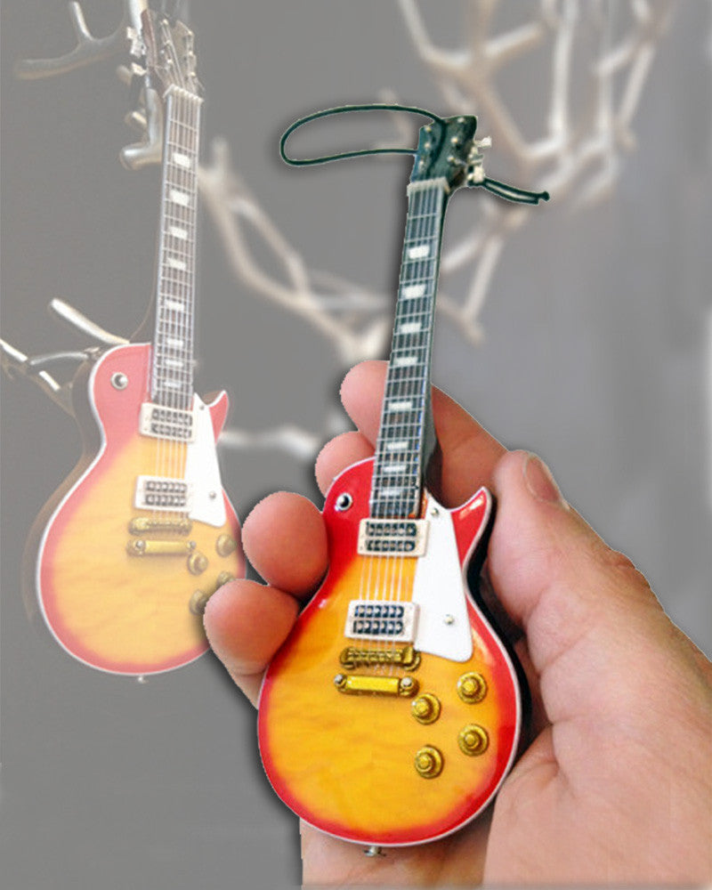 6″ Mini Guitar Holiday Ornament Replica Collectible – Classic Sunburst