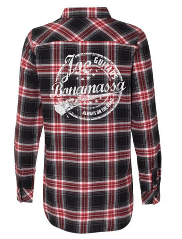 Genuine Flannel Long Sleeve (Women) - Red & Black
