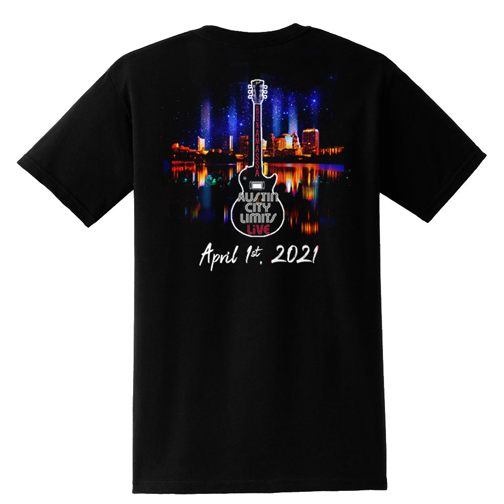ACL Live Guitar Skyline Pocket T-Shirt (Unisex)