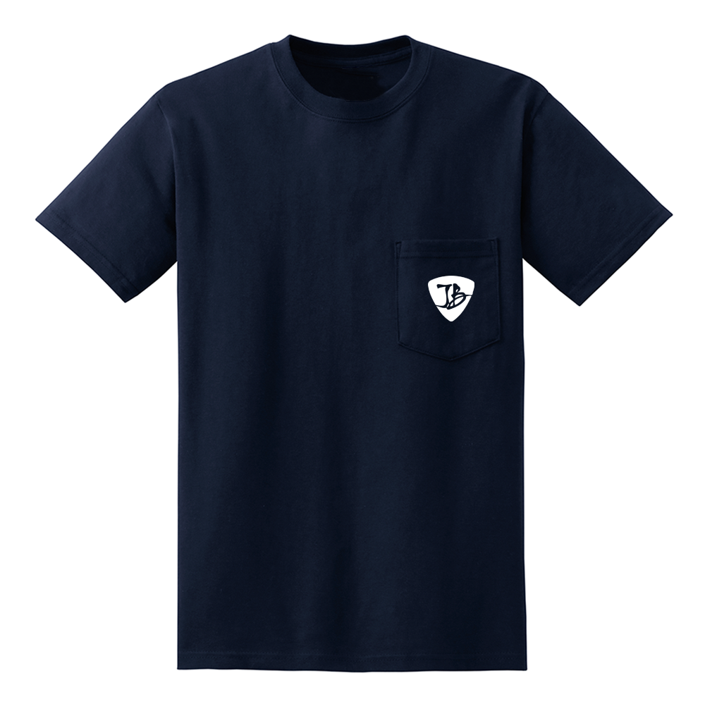 Psych Guitars Pocket T-Shirt (Men) - Navy