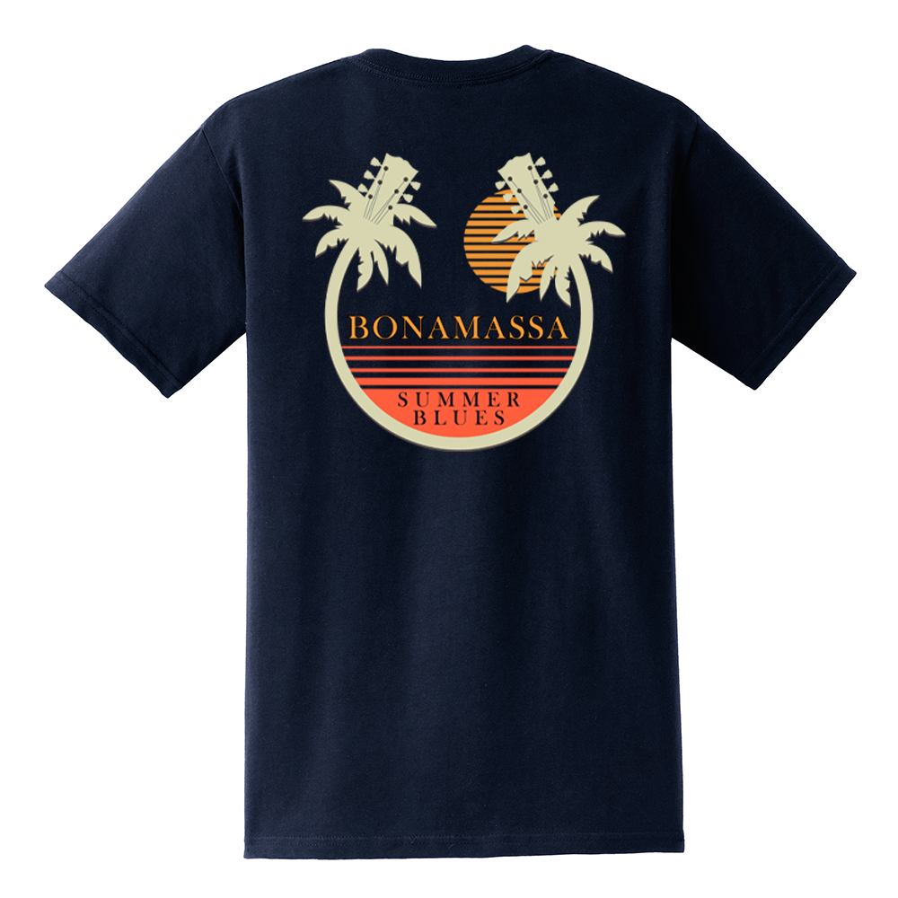 Bonamassa Summer Palms Pocket T-Shirt (Men) - Navy