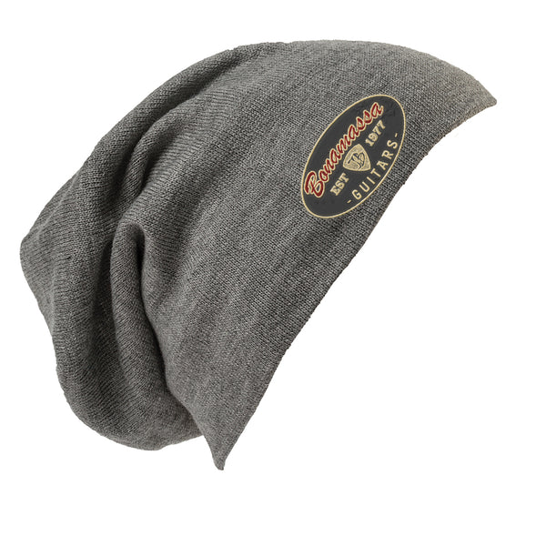 The Stamp Slouch Beanie -  Light Grey Heather