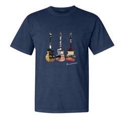 Guitar Scene T-Shirt (Unisex) - Midnight Navy