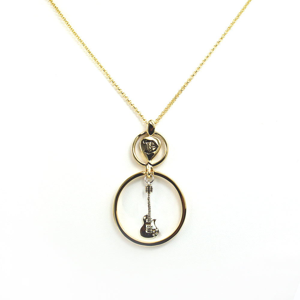Guitar Drop 2-Tone Necklace