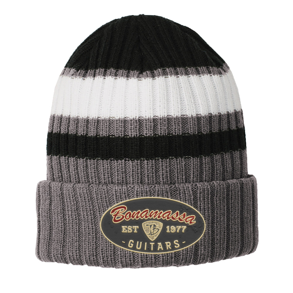 The Stamp New Era Ribbed Tailgate Beanie - Black
