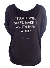 People will stare - Circle Top (Black)