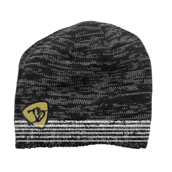 JB Heavy Gauge Space Dyed Beanie - Black/Charcoal