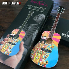 Axe Heaven Jimi Hendrix AXIS Bold As Love Mini Acoustic Guitar Collectible