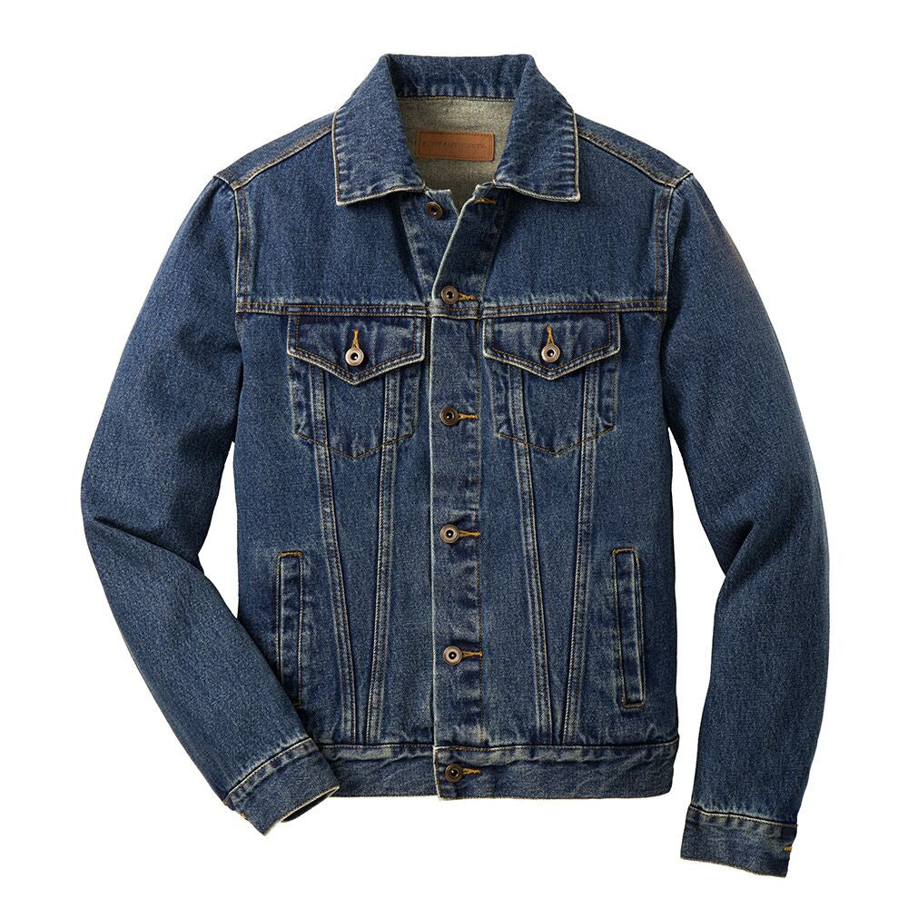Highway to Blues Back Patch - Port Authority Denim Jacket (Men)