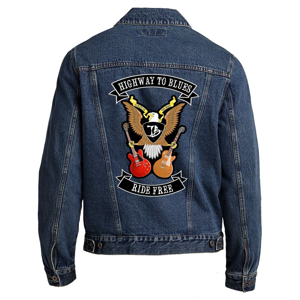how to put patches on denim jacket