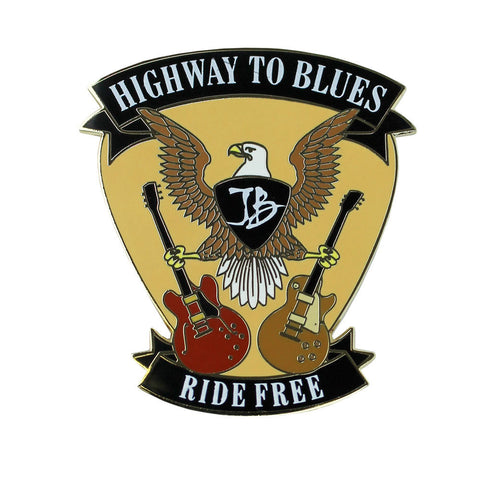 Highway to Blues Pin - Gold
