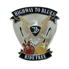 Highway to Blues Pin - Silver