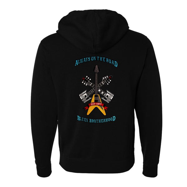 Always on the Road Zip-Up Hoodie (Unisex) - Black