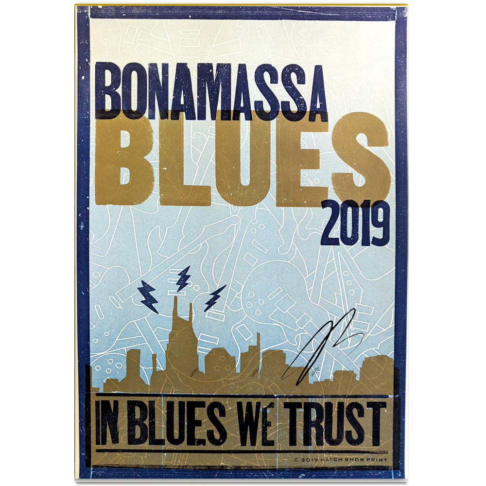 In Blues We Trust (2019) Hatch Print - Hand-Signed