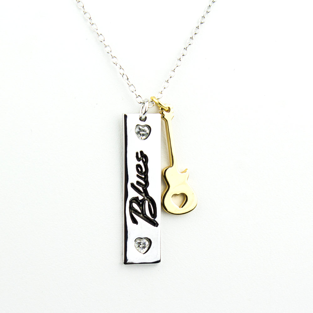 Blues Tag Necklace
