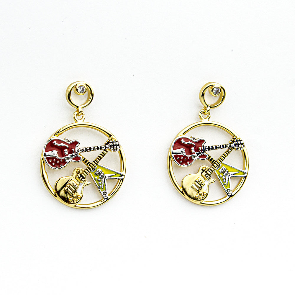 Guitar Trinity Earrings