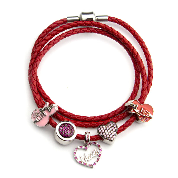 Starter Set 2 with Red Triple Leather Wrap