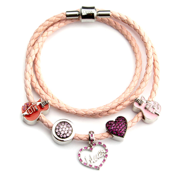 Starter Set 1 with Pink Triple Leather Wrap