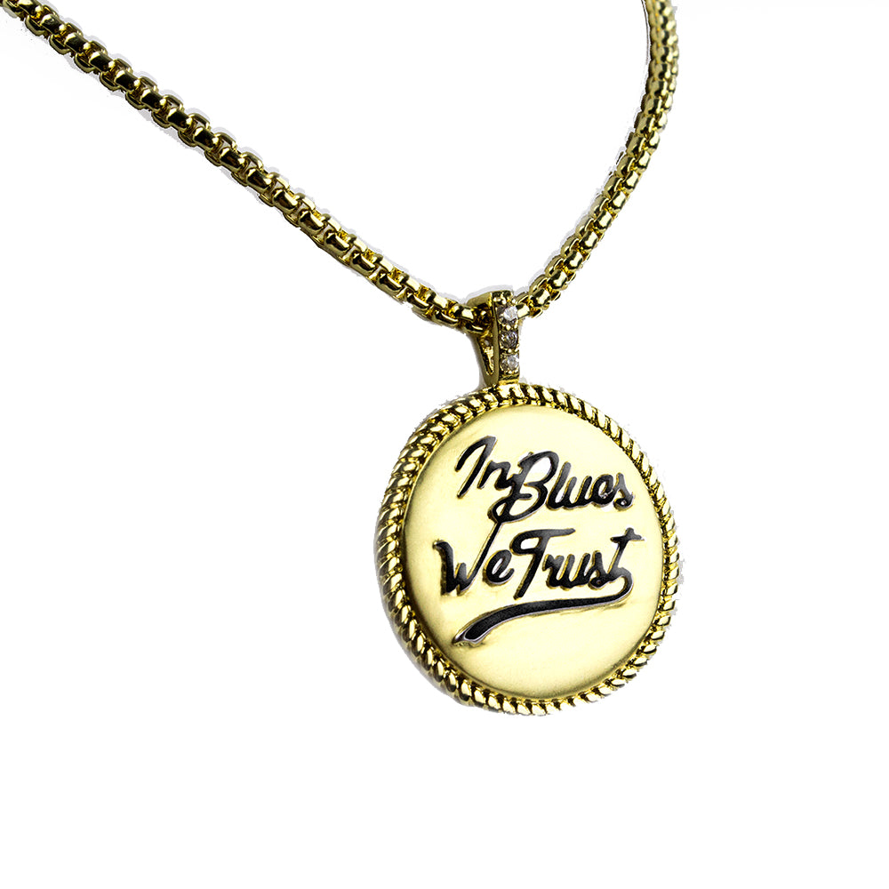 In Blues We Trust  Trifecta 2-Tone Matte Necklace - 20""