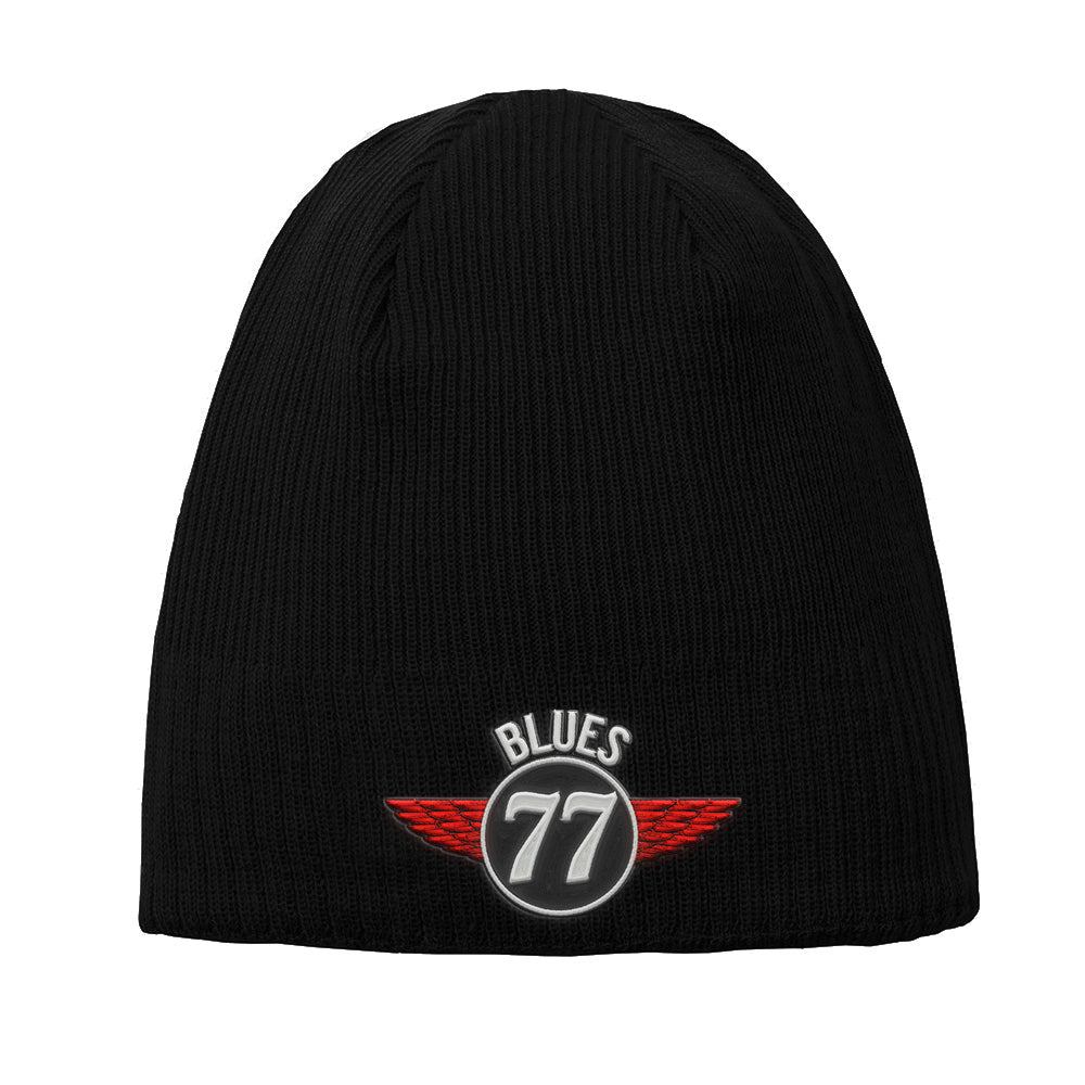 Interstate Blues New Era Knit Beanie - Black