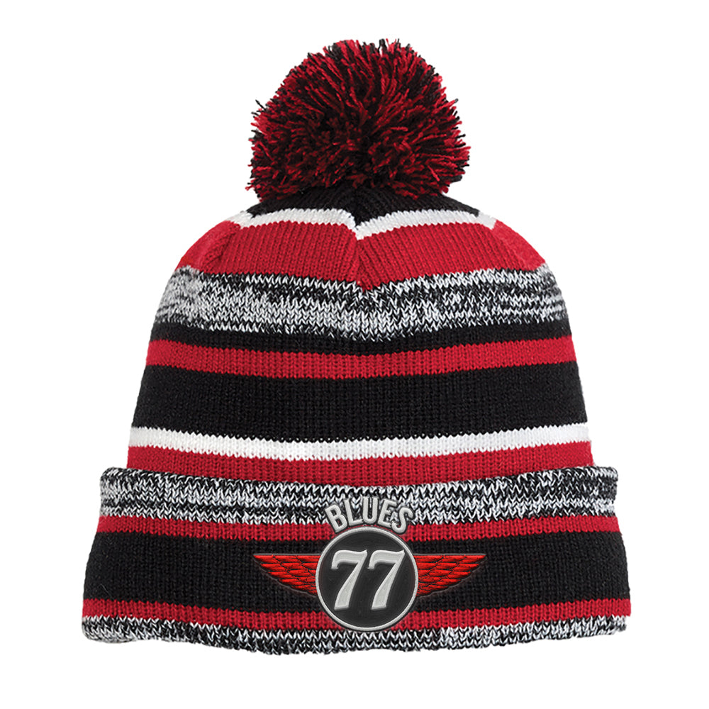Interstate Blues New Era Sideline Beanie - Red